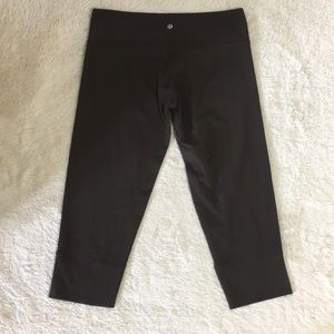 Lululemon Brown Mid Rise Ankle Cropped Leggings